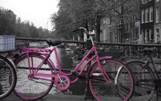 pink bike amsterdam